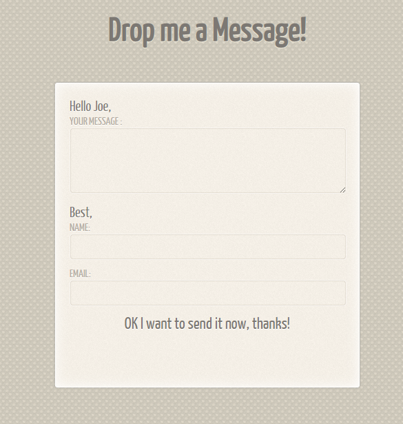 Free Contact Form Examples