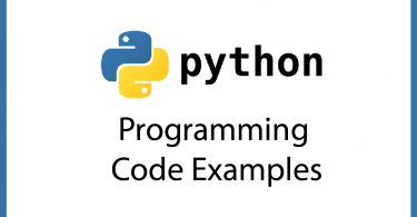 Python 3 Code Examples – Programming Code Examples