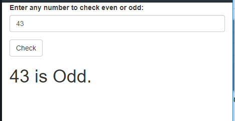 PHP Program to Check Whether a Number is Even or Odd