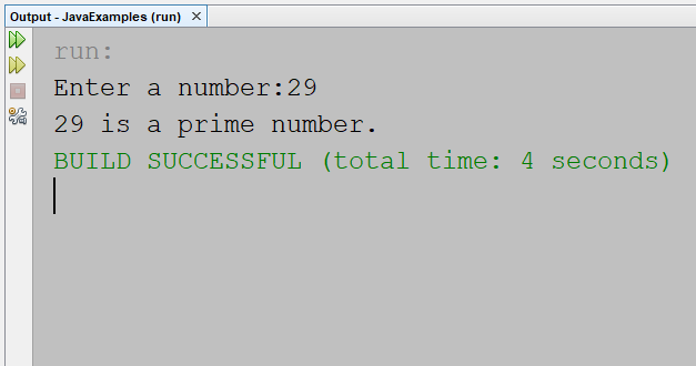Check Prime Number using a for loop in Java