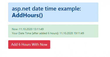 Add hours to datetime variable in C#