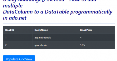How to Add Multiple Data Columns To A Datatable At Once