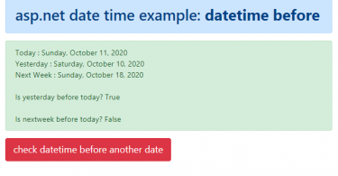 How to check if a DateTime is later than another date in C#