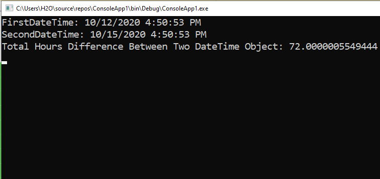 How to subtract two DateTimes in C#