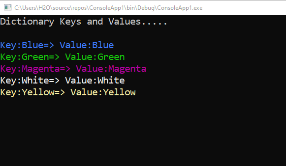 How to use KeyValuePair in a Dictionary in C#