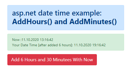Add hours/minute to datetime variable in C#