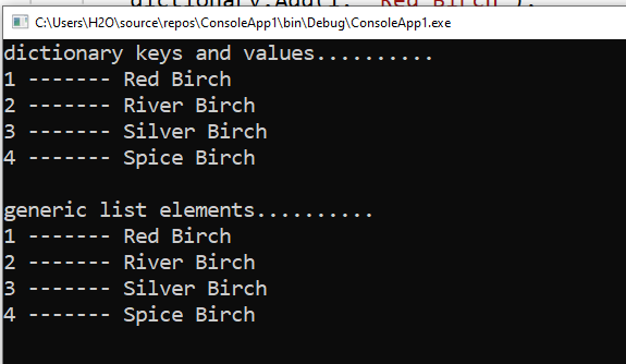 How to convert a Dictionary to a list in C#