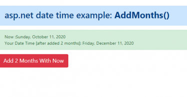 How to add months to DateTime