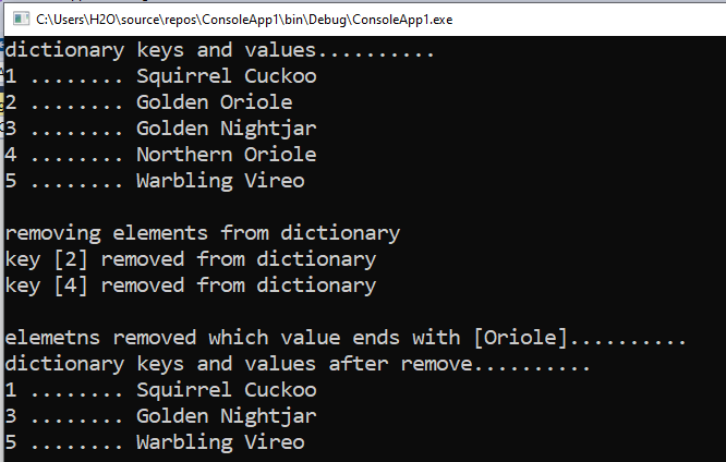 How to remove items from a Dictionary by condition in C#