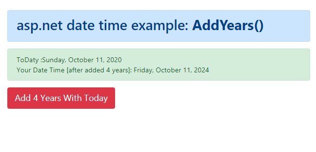 How to add years to DateTime in C#