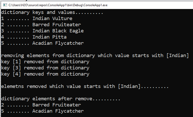 How to remove an item from Dictionary by value in C#