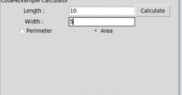 calculate area and perimeter in tkinter