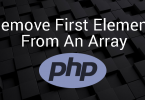 Remove The First Element From An Array